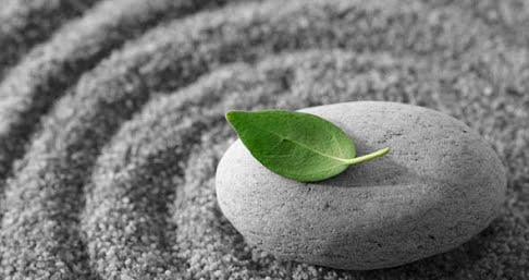 Blad stein sand